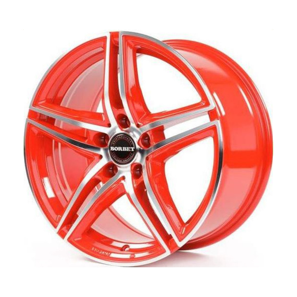 Купить XRT 8x18/5*120 D72.5 ET30 Red Front Polished, Диск литой Borbet