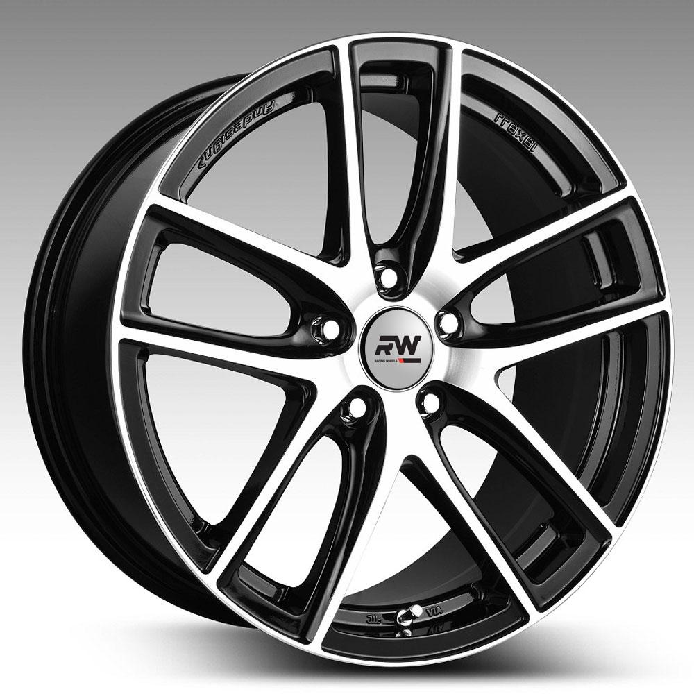 Купить H-740 8x18/5*112 D66.6 ET35 BK F/P, Диск литой Racing Wheels